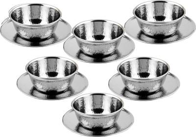 THW Hammered Plate Bowl Serving Set