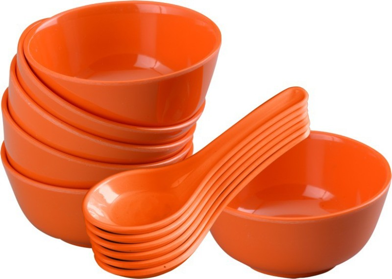 Servewell Bowl Spoon Serving Set(Pack of 12)