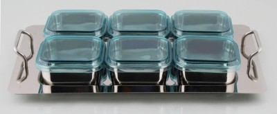 Mayur Exports stainless steel dry fruit set Cup Tray Serving Set