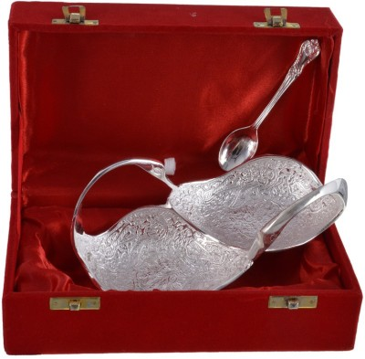 The Art Box Silver Plated Bowl Spoon Serving Set