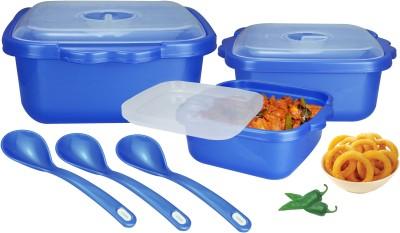 Nayasa Microwave Safe Serveware Blue Bowl Spoon Serving Set(Pack of 9)