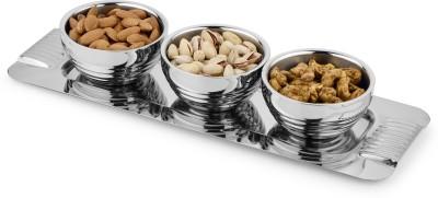 Jattin enterprises Serving,Multipurpose Bowl Tray Serving Set(Pack of 4)