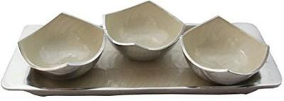 CraftedIndia Serving tray with Bowls set Bowl Tray Serving Set