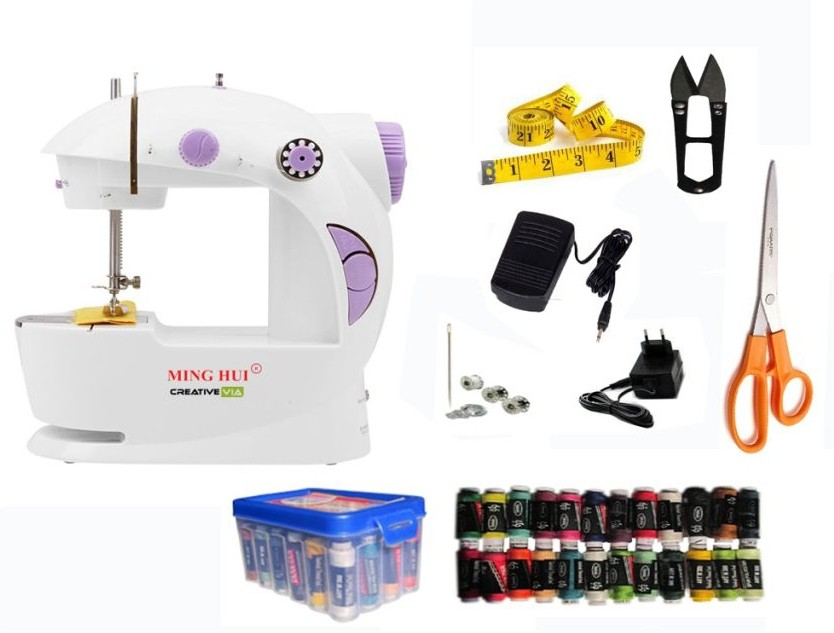 View Creative Via JH-43 Portable & Compact With Accessories Mini Electric Sewing Machine( Built-in Stitches 1) Home Appliances Price Online(Hemdec)