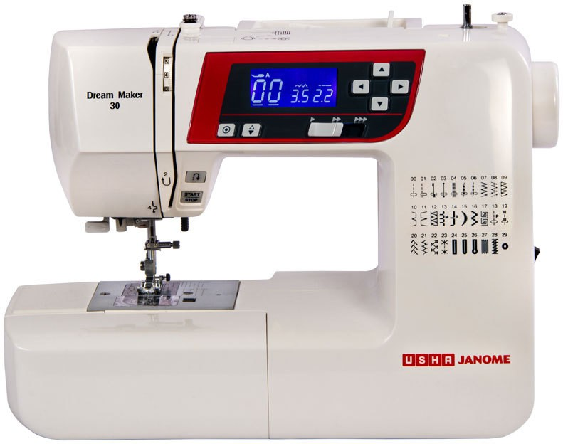 Usha Dream Maker 30 (Book) Electric Sewing Machine( Built-in Stitches 30)
