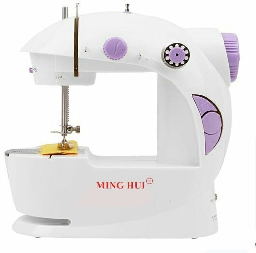 G S Portable & Compact 4 in 1 Mini Adapter Foot Pedal Electric Sewing Machine( Built-in Stitches 1)