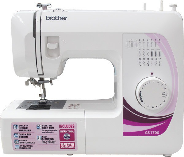 View Brother GS-1700 Electric Sewing Machine( Built-in Stitches 17) Home Appliances Price Online(Brother)