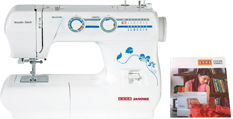 Usha Wonder Stitch (Book) Electric Sewing Machine( Built-in Stitches 14)