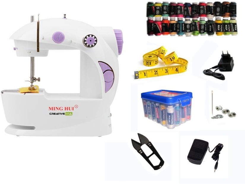 CreativeVia JH-45 With Thread Box Mini Electric Sewing Machine( Built-in Stitches 1)