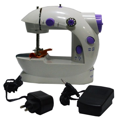 OSR Portable & Compact 4 in 1 Mini Adapter Foot Pedal Electric Sewing Machine