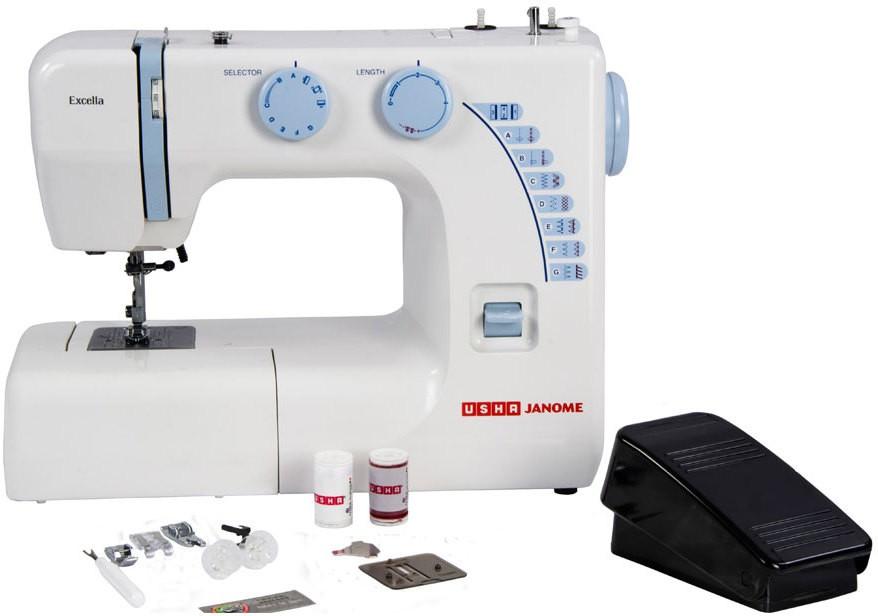Usha Usha Janome Excella Automatic Sewing Machine Electric Sewing Classy Usha Janome Sewing Machine Price List