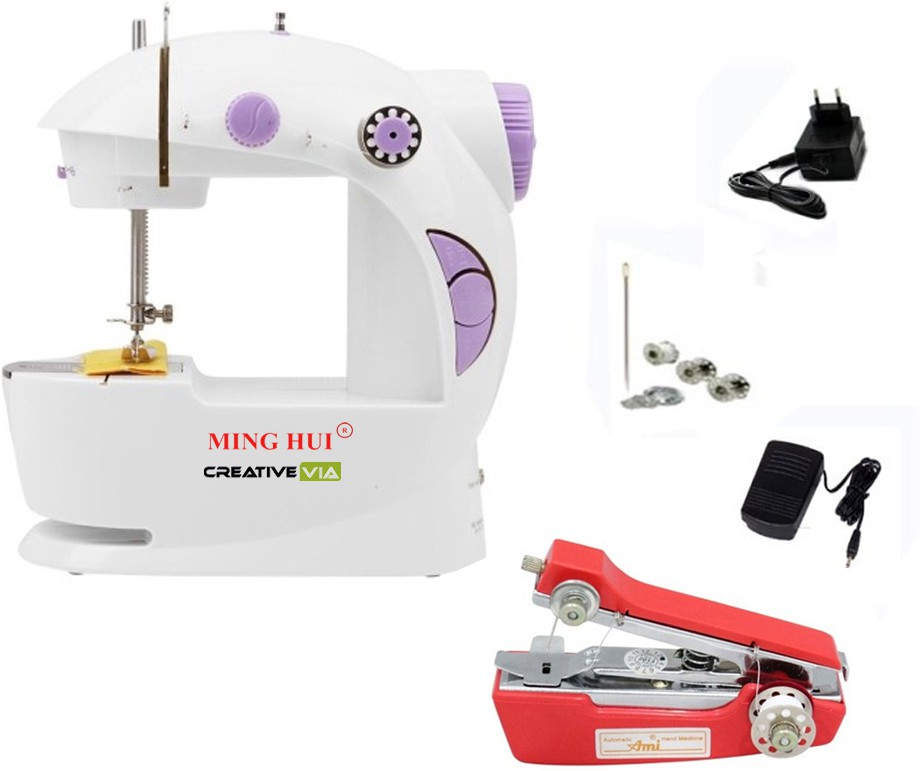 View Creative Via Exclusive 4 In 1 Portable & Compact With Accessories Mini Electric Sewing Machine( Built-in Stitches 1) Home Appliances Price Online(Creative Via)