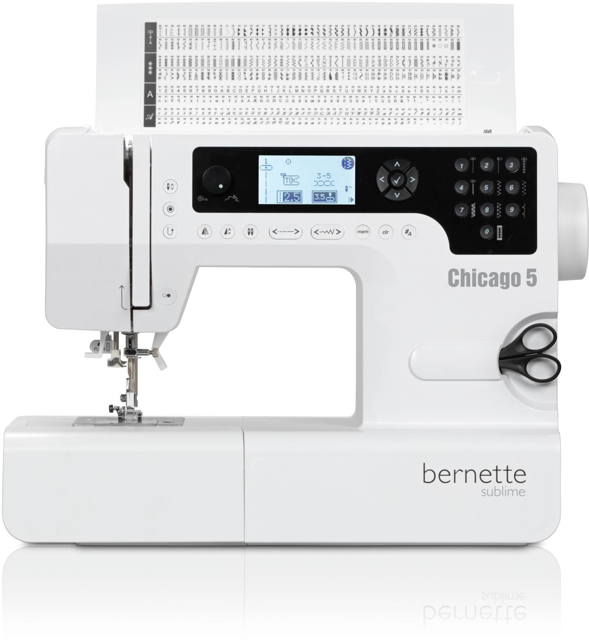 Bernette Chicago 5 Computerised Sewing Machine( Built-in Stitches 200)