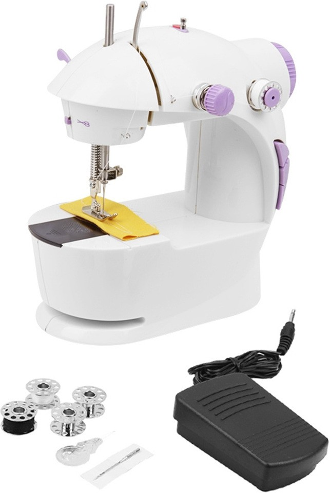 Bluebells India Imported 4 in 1 Mini Electric Sewing (Silai) Machine with Foot Pedal & Adapter, Portable & Compact Machine Electric Sewing Machine( Built-in Stitches 45)