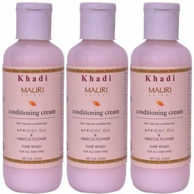 Khadimauri Conditioning Cream Shampoo - Pack of 3 - Premium Herbal