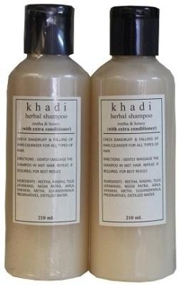 Khadi Natural Reetha & Honey Shampoo with extra conditioner (Pack of 2)
