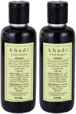 Khadi Herbal Herbal Shikakai Shampoo Pack of 2
