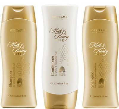 Oriflame Milk & Honey Shampoo and Conditioner (Pack of 3)