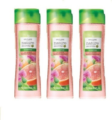 Oriflame Nature Secrets Shampoo Anti-Dandruff With Burdock & Grapefruit (Pack Of 3)