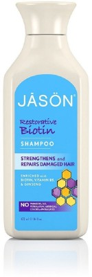JASON Natural Cosmetics Everyday Hair Care- Natural Biotin Shampoo Ginseng & Chamomile