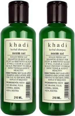 Khadi Herbal Herbal Neem Sat Shampoo Pack of 2