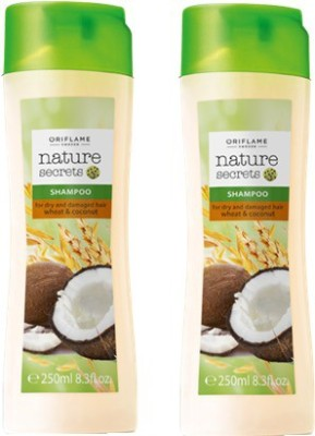 Oriflame Nature Secrets Shampoo For Dry And Damaged Hair Wheat & Coconut Pack Of 2