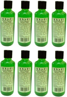 Khadi Herbal Henna Tulsi Shampoo Family pack