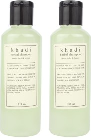 Khadi Harbal Shampoo ( Neem, Tulshi, Honey) pack of 2