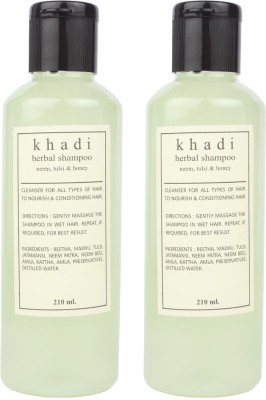 Khadi Natural Harbal Shampoo ( Neem, Tulshi, Honey) pack of 2