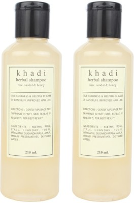 Khadi Natural Harbal Shampoo (Rose, Sandal & Honey) pack of 2