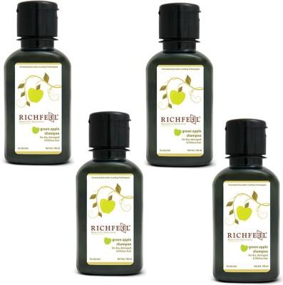 Richfeel Green Apple Shampoo Pack Of 4