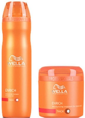 Wella Professionals Enrich Shampoo & Mask(400 ml) at flipkart