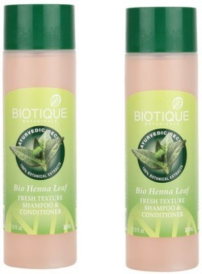 Biotique Bio Heena Leaf Fresh Texture Shampoo & Conditioner( pack of 2 )