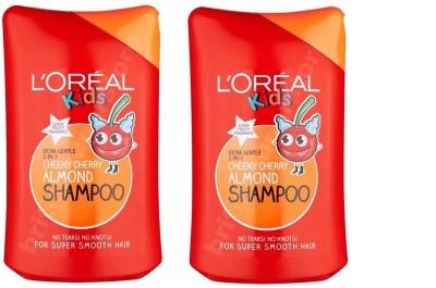 L,Oreal Paris Kids Cheeky Cheery Almond Shampoo ( Pack of 2 )