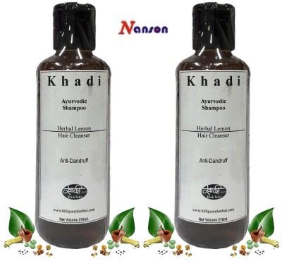 Nanson Khadi Herbal Hair Cleanser Ayurvedic Lemon Shampoo
