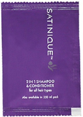 """Amway SATINIQUEâ""""¢ 2-in-1 Shampoo & Conditioner Sachet 4ml- 20 sachets"""
