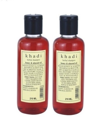 Khadi Herbal Herbal Honey & Almond Oil Shampoo - Twin Pack
