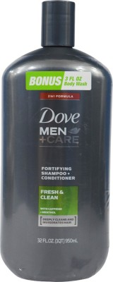 Dove Men + Care Fresh Clean 2-in-1 Fortifying Shampoo and Conditioner