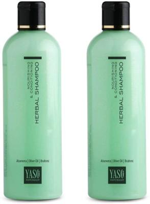 Yaso Naturally Herbal Shampoo Nourishing & Conditioning 2 x 200ml Combo Pack