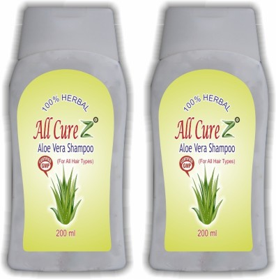 All Curez Aloe Vera Shampoo (Set of 2)