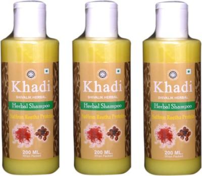 Khadi Natural Saffron Reetha Protein Herbal Shampoo