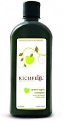 Richfeel Green Apple Shampoo For Dry Damaged And Lifeless Hair