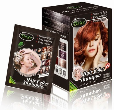 "Dexe â""¢ Black 5min Instant Hair Coloring Shampoo"