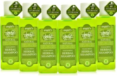 Khadi Natural Tulsi & Heena shampoo [ PACK OF 6] 200ML
