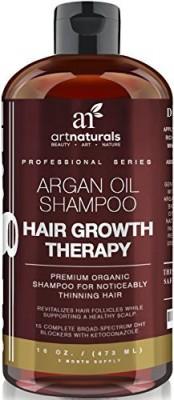 ArtNaturals Organic Argan Oil Hair Loss Shampoo for Hair Regrowth 16 Oz - Sulfate Free - Best Treatment for Hair Loss, Thinning & Aging