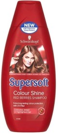 Schwarzkopf Supersoft Colour Shine Red Berries Shampoo