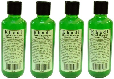 Khadi Herbal Henna Tulsi Shampoo pack of 4