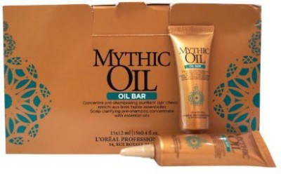 L,Oreal Paris Mythic Oil OIL BAR Scalp Clarifying Pre-Shampoo Concentrate With Essential Oils