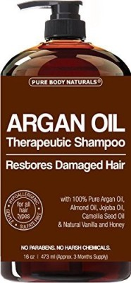 Pure Body Naturals Argan Oil Shampoo Restores Damaged Hair