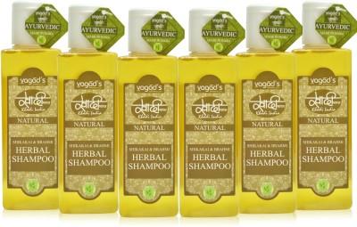 Khadi Natural Shikakai & Brahmi shampoo[ PACK OF 6] 200 ML